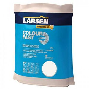 Larsen Colourfast 360 Silver Grey Flexible Wall And Floor Grout 3kg