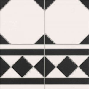 Oxford Black Cenefa 33x33cm